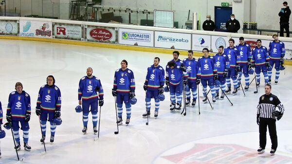 Хоккеисты сборной Италии