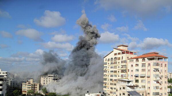 Последствия израильского авиаудара в Газе