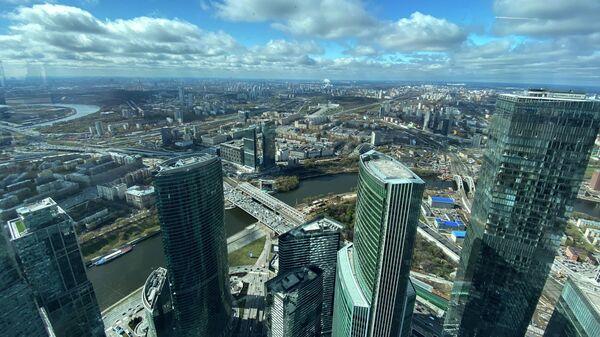 Вид с самой высокой площадки комплекса Башня Федерация