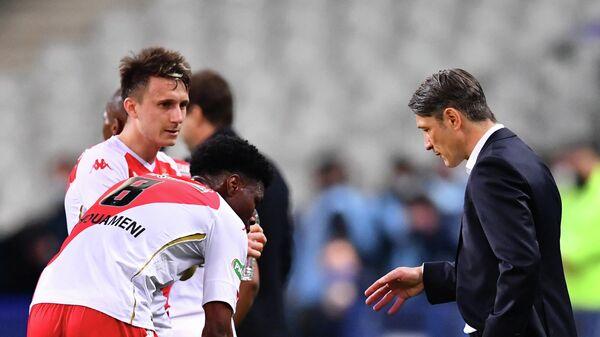 Александр Головин, Орельен Чуамэни и Роберт Ковач во время финального матча Кубка Франции сезона-2020/21 с ПСЖ.