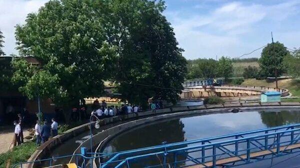 Работа следователей на месте гибели 10 рабочих в Ростовской области. Кадры СК