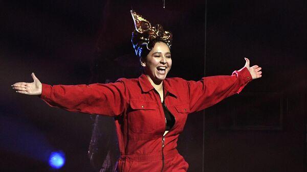 Певица Манижа перед репетицией финала 65-го международного конкурса песни Евровидение - 2021