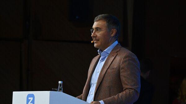 Министр науки и высшего образования РФ Валерий Фальков выступает с докладом на просветительском марафоне общества Новое Знание
