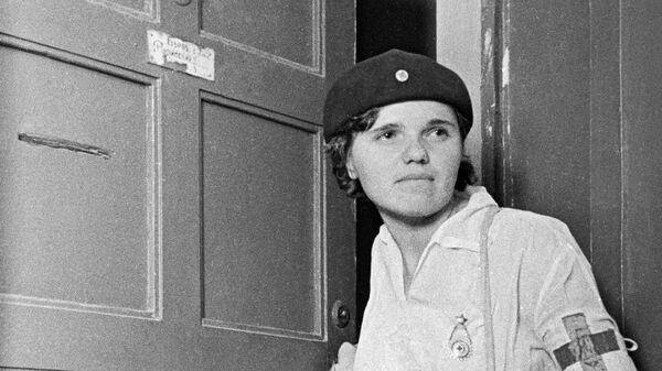 Санитарка медико-санитарной службы. Москва, июнь 1941 год