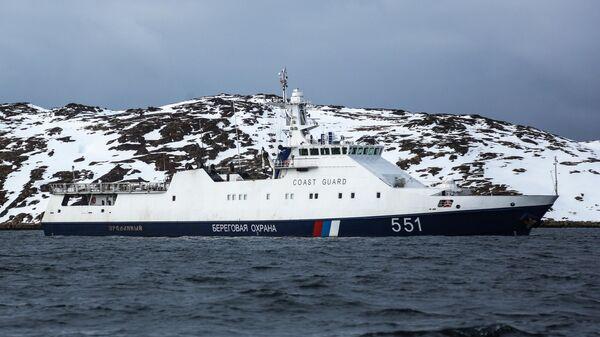 Рейд пограничного управления ФСБ России по поиску браконьеров в Баренцевом море