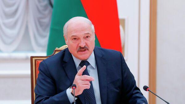 Президент Белоруссии Александр Лукашенко принимает участие в заседании Совета глав правительств СНГ