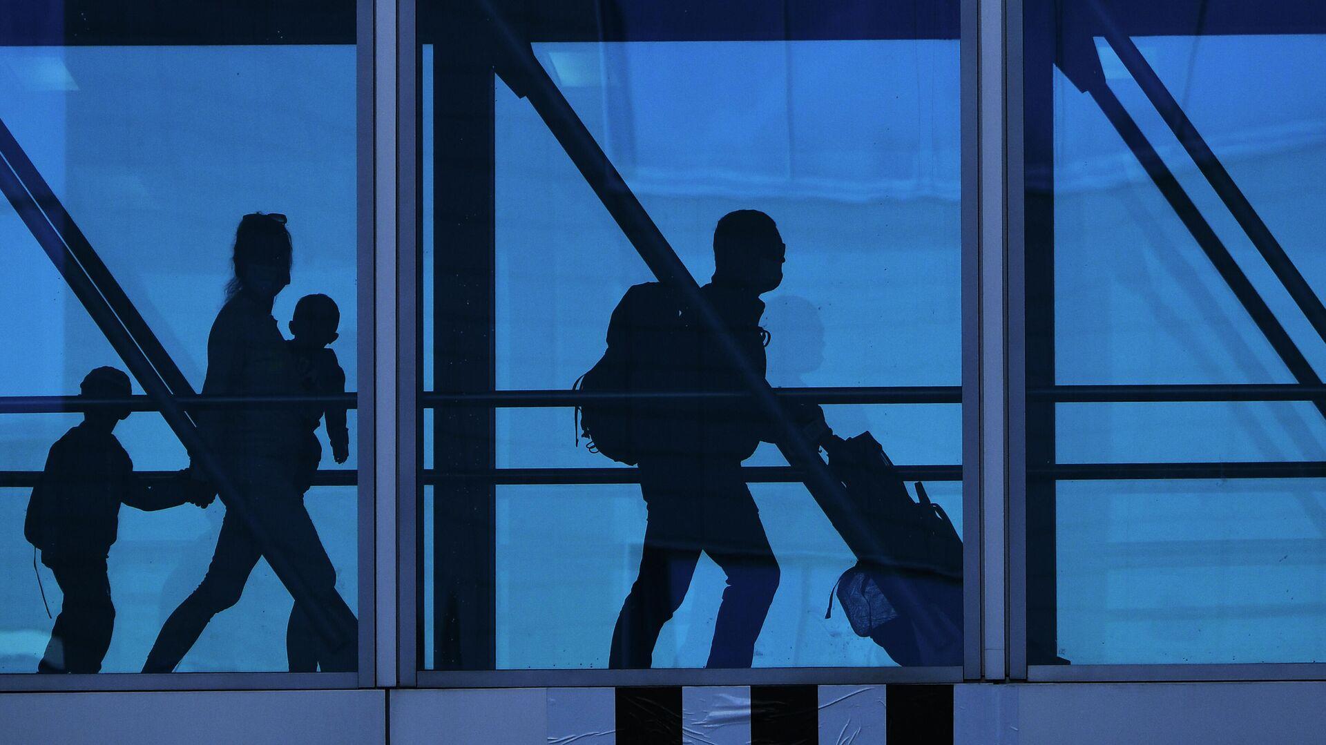 Пассажиры в аэропорту Домодедово имени М. В. Ломоносова - РИА Новости, 1920, 01.06.2021