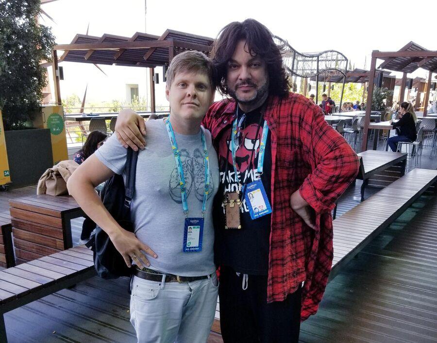 Александр Жданов с Киркоровым на Евровидении в Португалии
