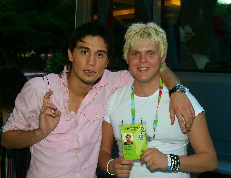 Александр Жданов с Димой Биланом