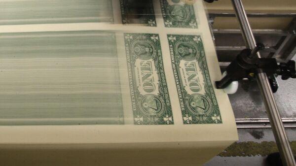 Печать долларовых банкнот