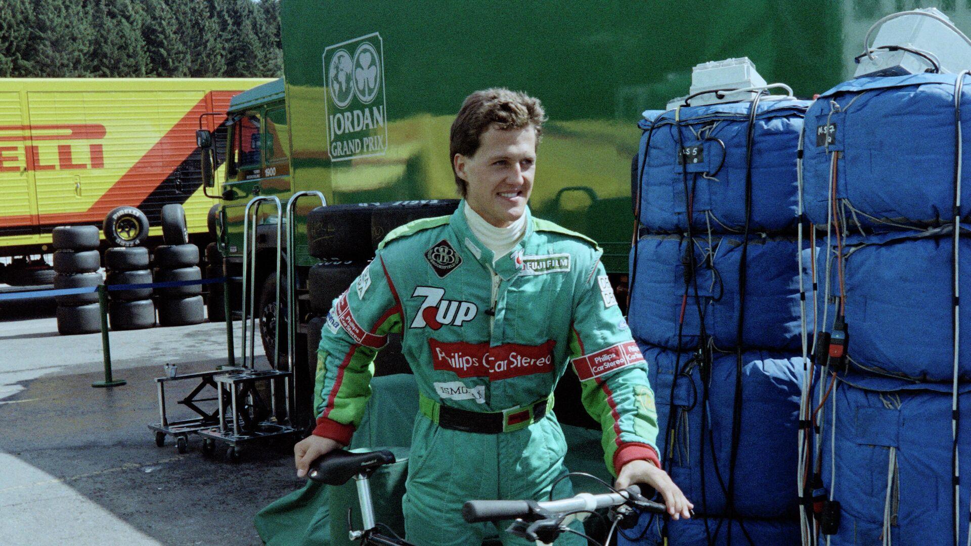 Михаэль Шумахер на Гран-при Бельгии 1991 года - РИА Новости, 1920, 08.06.2021