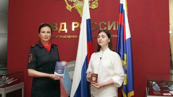 Екатерина Дмитриева принята в российское гражданство