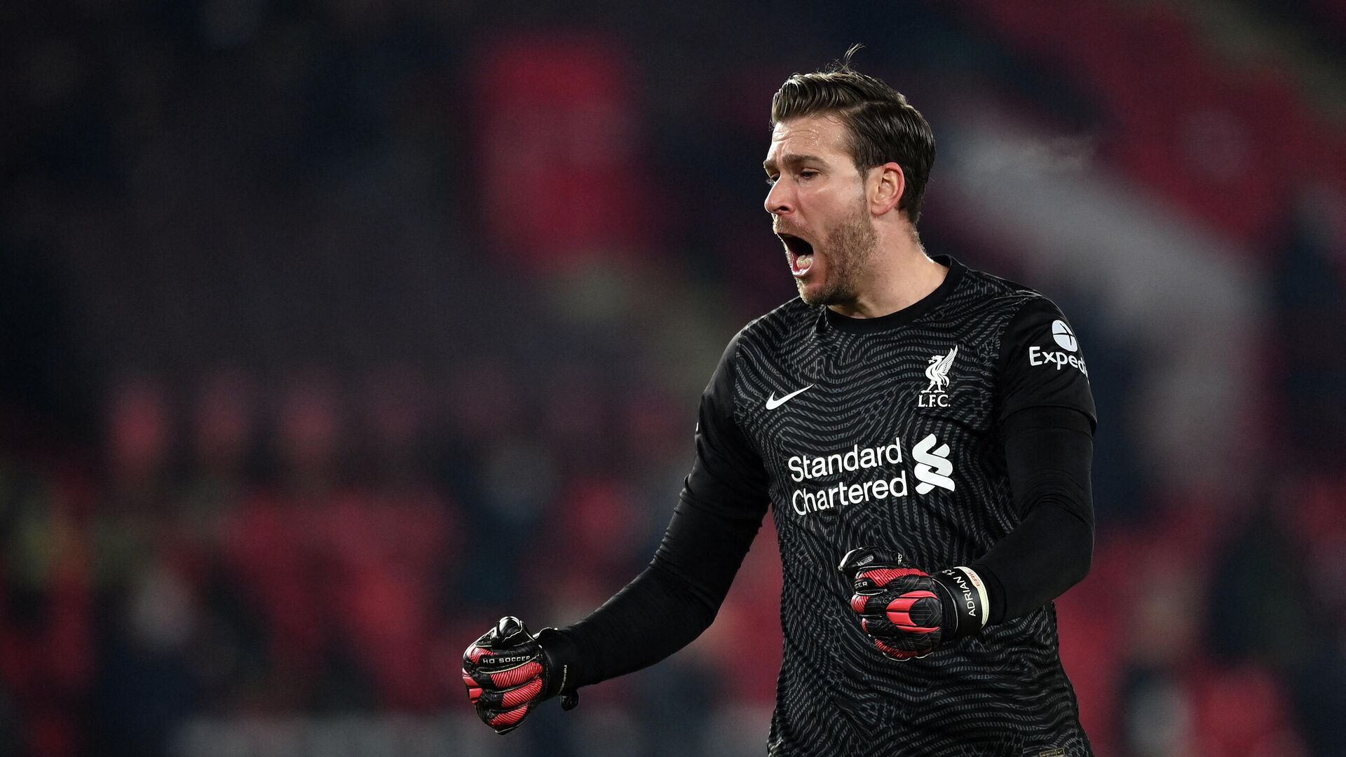 Liverpool's Spanish goalkeeper Adrian reacts after the second goal during the English Premier League football match between Sheffield United and Liverpool at Bramall Lane in Sheffield, northern England on February 28, 2021. (Photo by Shaun Botterill / POOL / AFP) / RESTRICTED TO EDITORIAL USE. No use with unauthorized audio, video, data, fixture lists, club/league logos or 'live' services. Online in-match use limited to 120 images. An additional 40 images may be used in extra time. No video emulation. Social media in-match use limited to 120 images. An additional 40 images may be used in extra time. No use in betting publications, games or single club/league/player publications. /  - РИА Новости, 1920, 14.06.2021