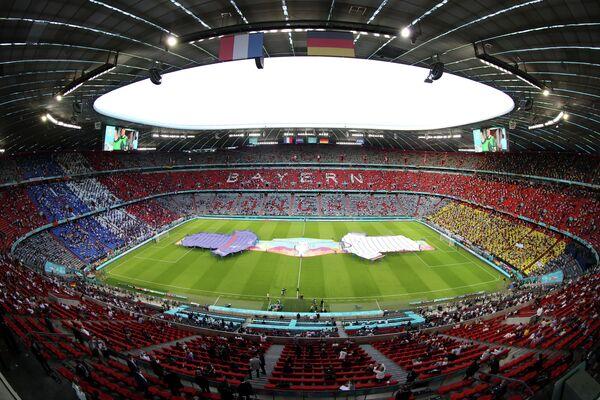 Стадион ЕВРО-2020 в Мюнхене перед началом матча Германия - Франция