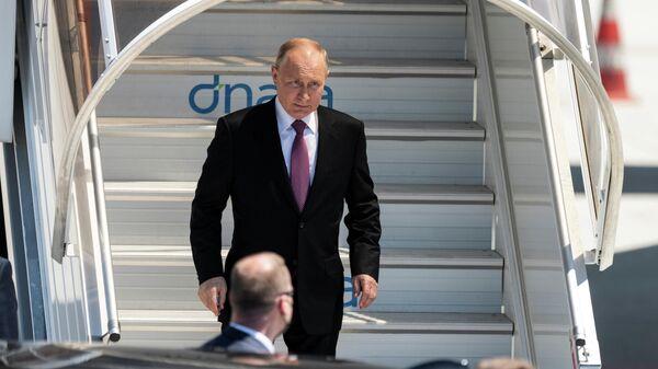 Прибытие президента РФ Владимира Путина в Женеву