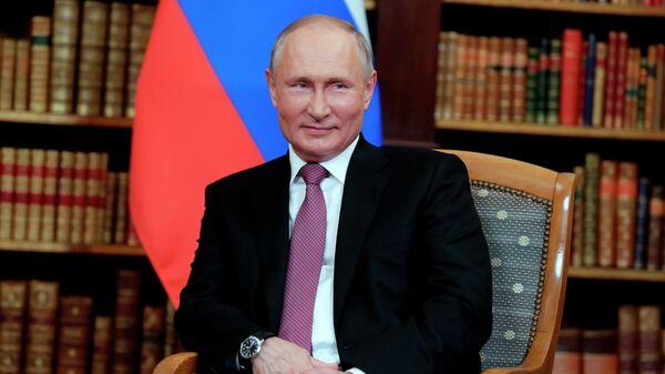 Президент РФ Владимир Путин во время встречи с президентом США Джо Байденом в Женеве на вилле Ла Гранж