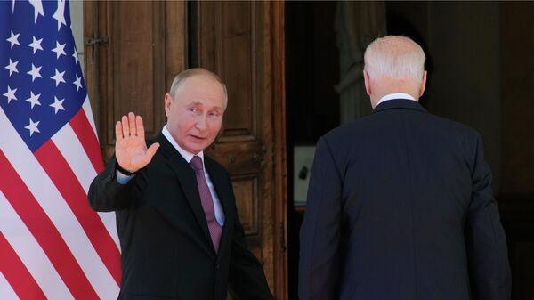 Президент РФ Владимир Путин и президент США Джо Байден на вилле Ла Гранж в Женеве