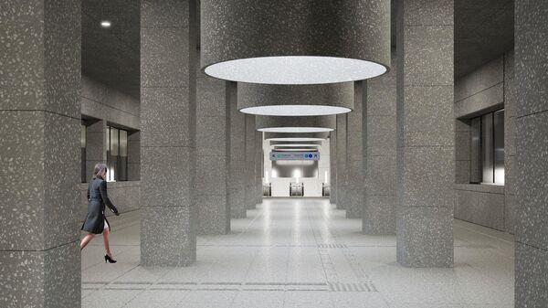 Проект станции Кунцевская второго кольца метро Москвы