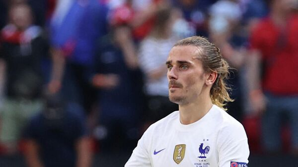Нападающий сборной Франции Антуан Гризманн