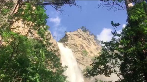 Самый высокий водопад в Крыму после ливней