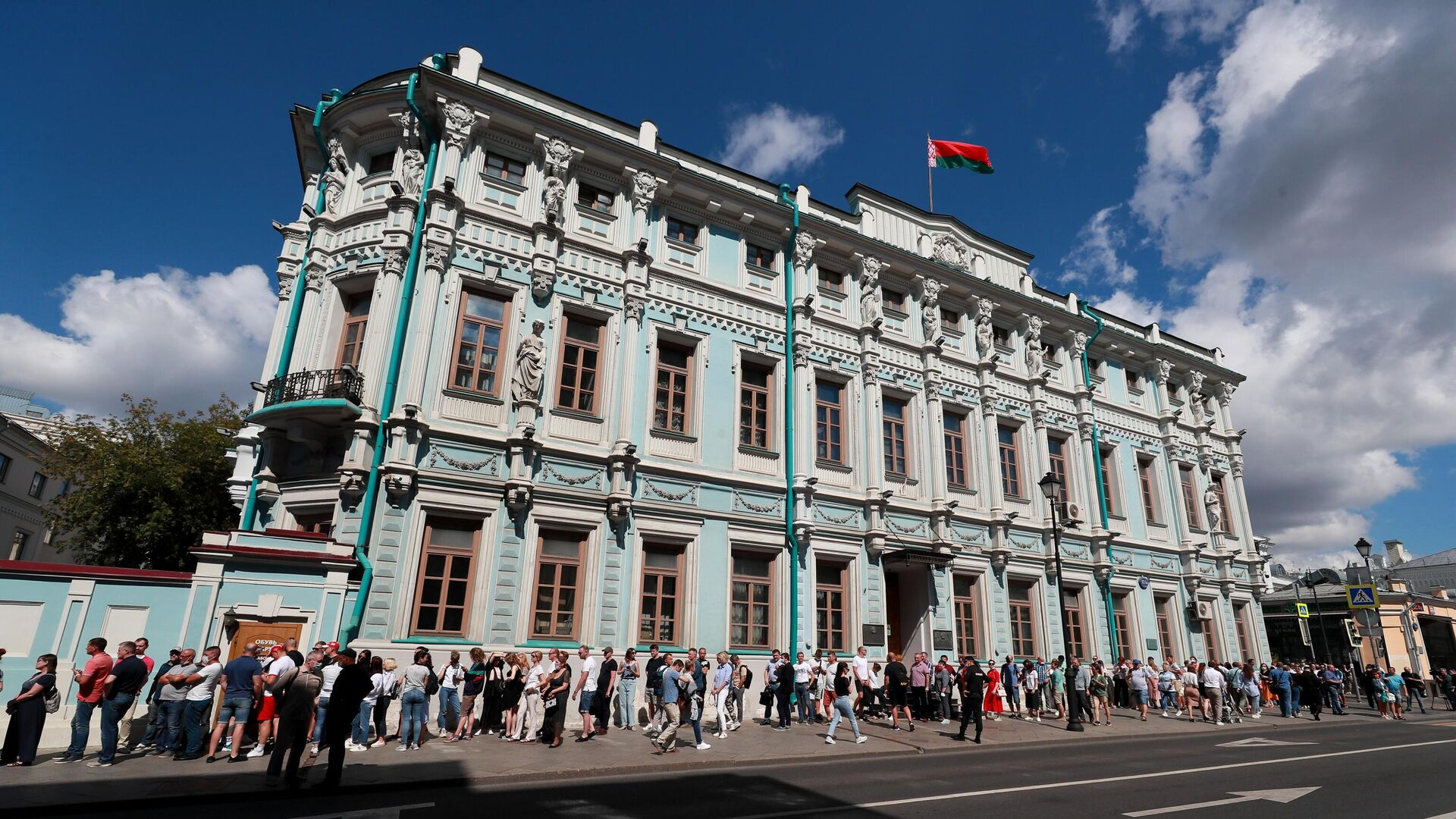 Здание посольства Белорусии в Москве  - РИА Новости, 1920, 12.07.2021