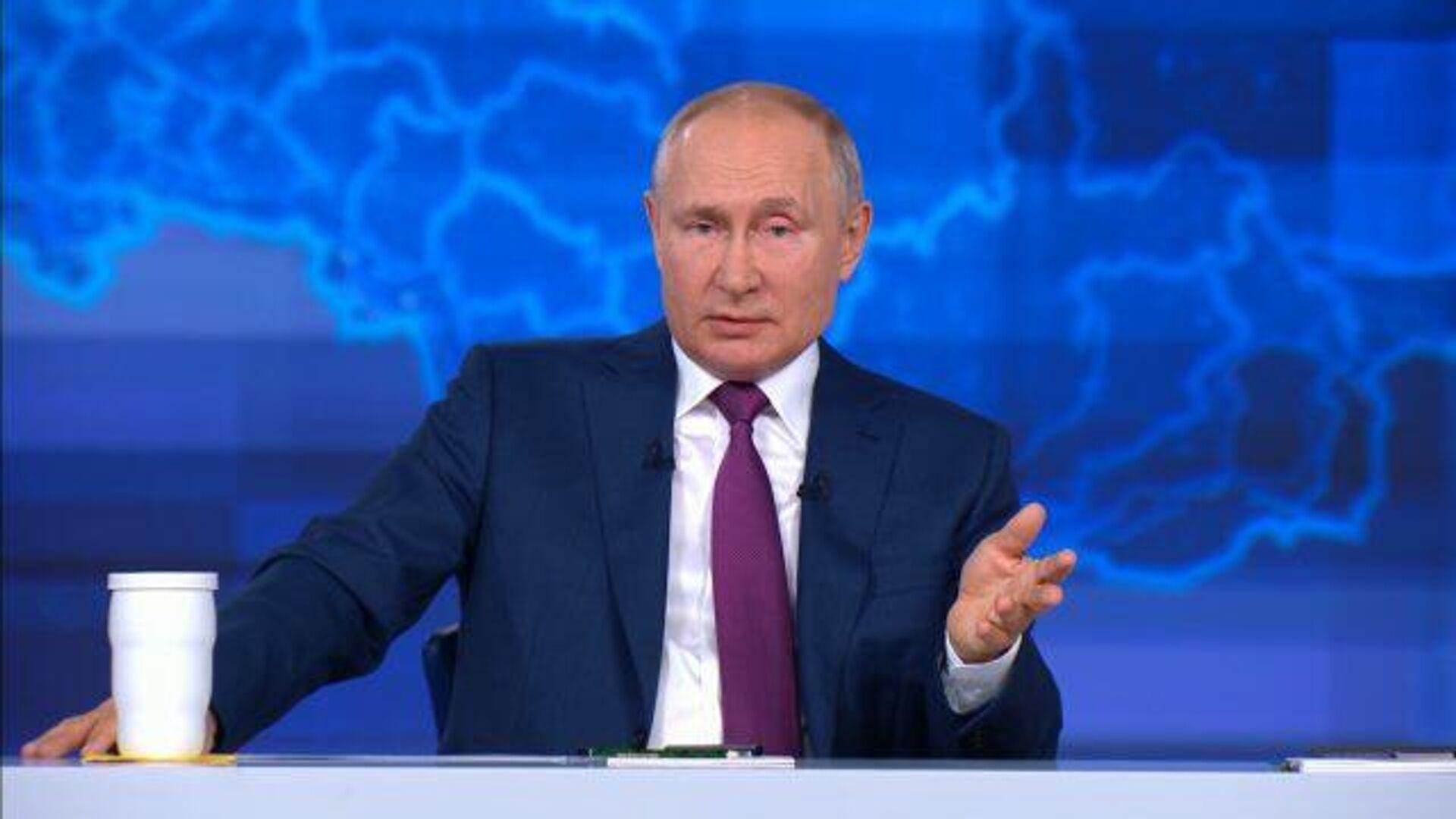 Приперлись к нашим границам – Путин об учениях на Украине с участием НАТО - РИА Новости, 1920, 30.06.2021