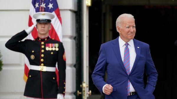 Президент США Джо Байден готовится выступить с речью в честь Дня Независимости США. 4 июля 2021