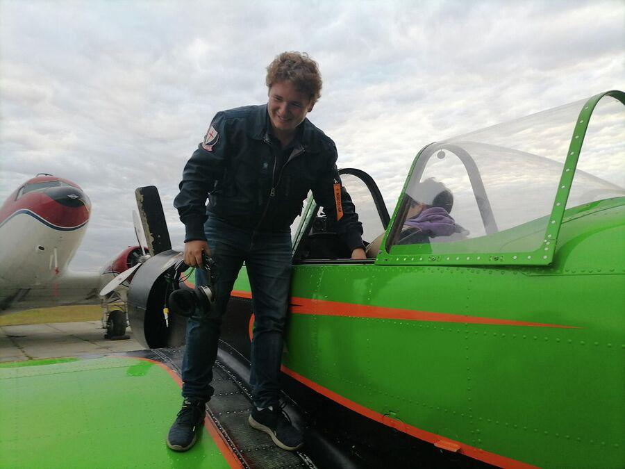 Руководитель пилотажной группы Барсы Иван Барсов