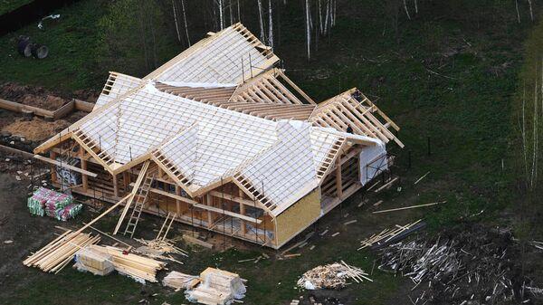 Строящийся дом в Московской области