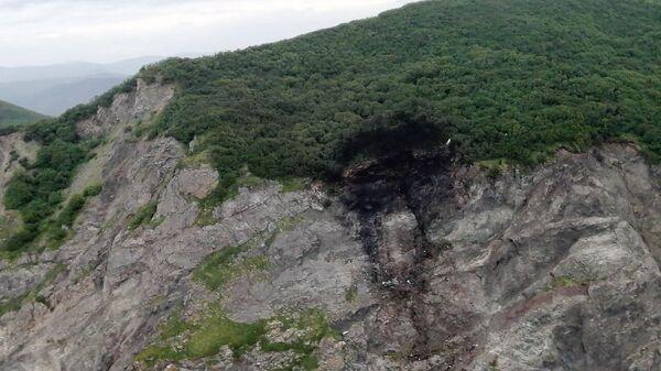 Место крушения пассажирского самолета Ан-26, летевшего из Петропавловска-Камчатского в поселок Палана
