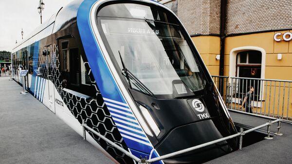 На Ярославском вокзале представили новый поезд мирового уровня Иволга 3.0