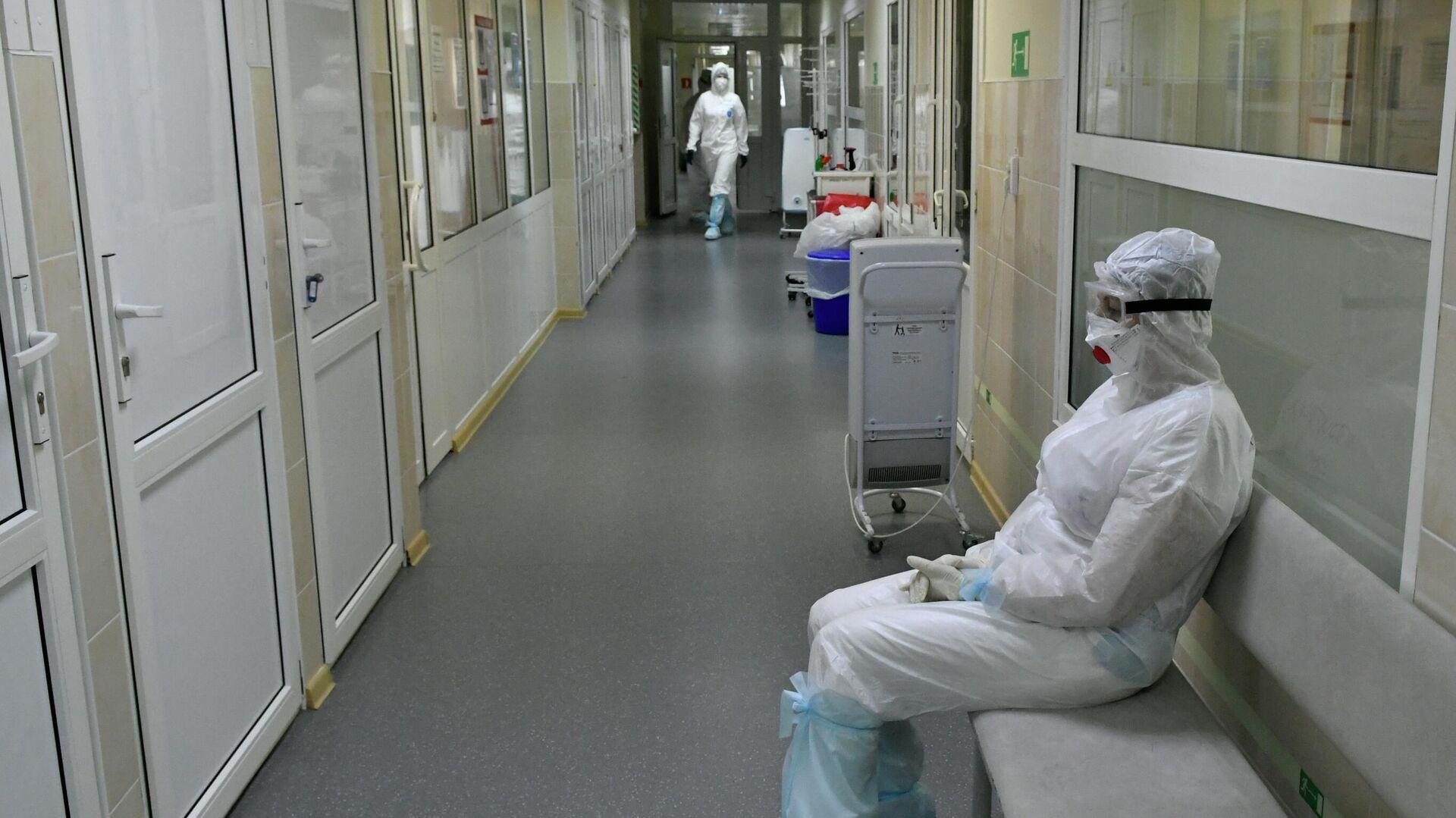 Госпиталь для лечения больных Covid-19 в Краснодаре - РИА Новости, 1920, 02.08.2021