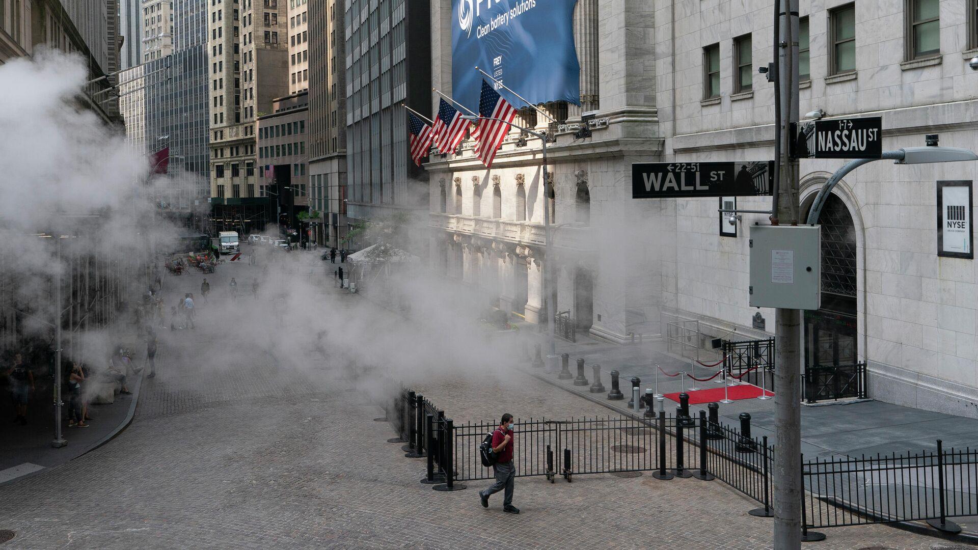 Улица Уолл-стрит в Нью-Йорке - РИА Новости, 1920, 12.07.2021