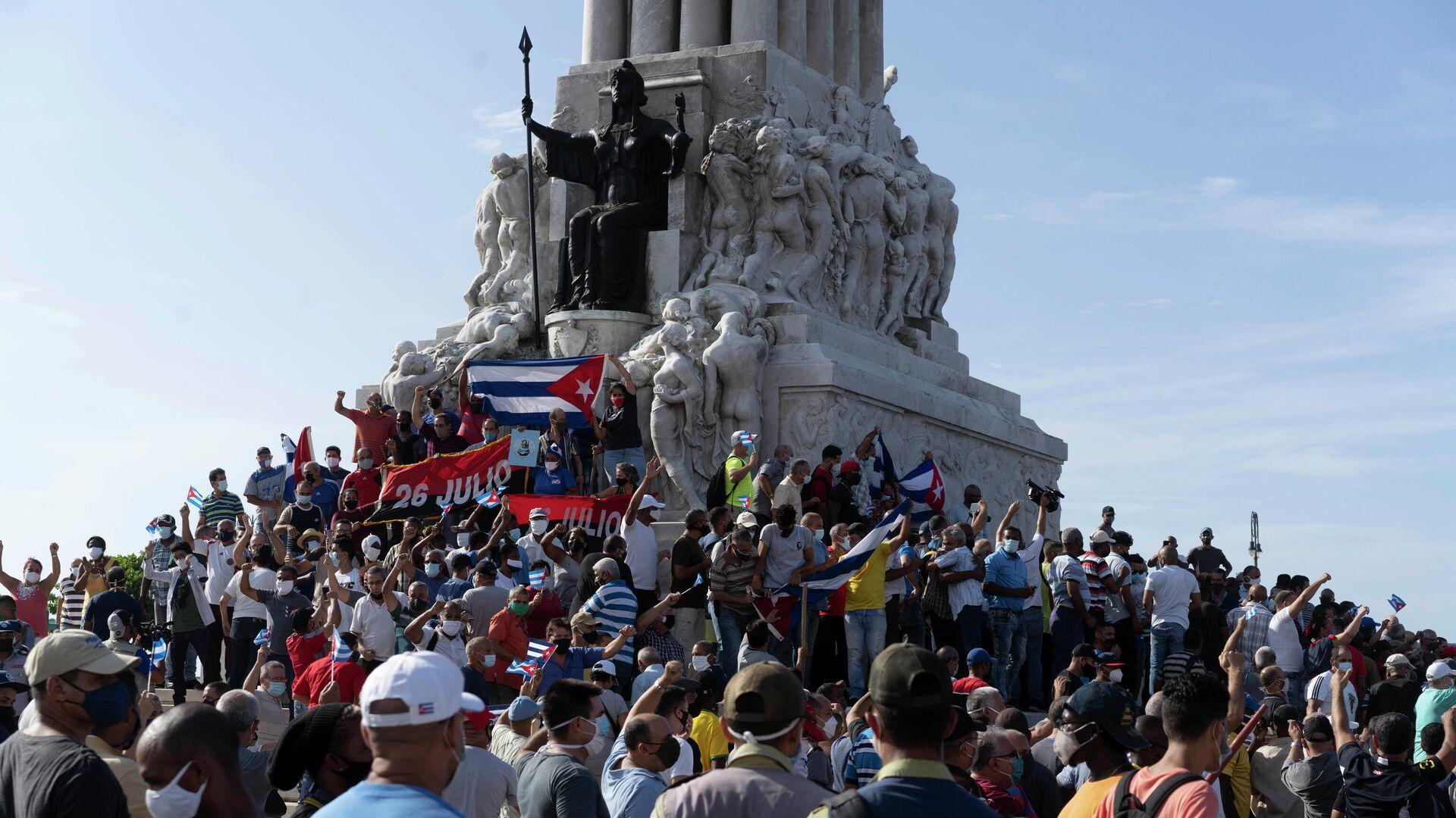 Акция протеста в Гаване - РИА Новости, 1920, 17.07.2021