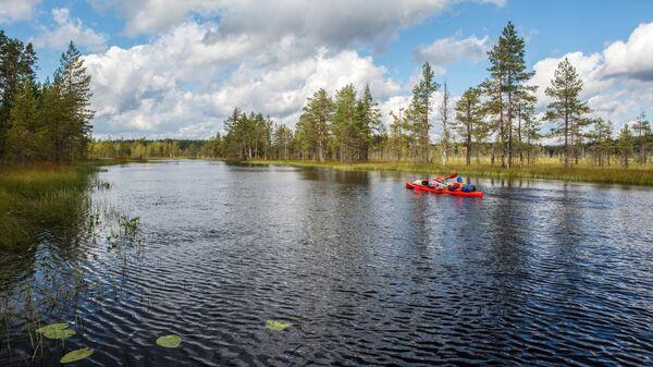 Озеро Кивиярви в Суоярвском районе Республики Карелия