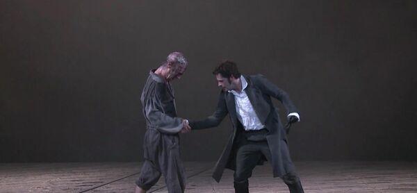 Кадр из спектакля Франкенштейн
