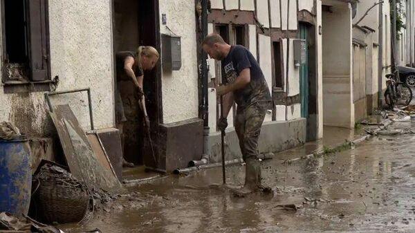 Последствия наводнений в Германии