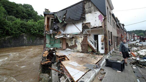 Последствия наводнения в Бельгии