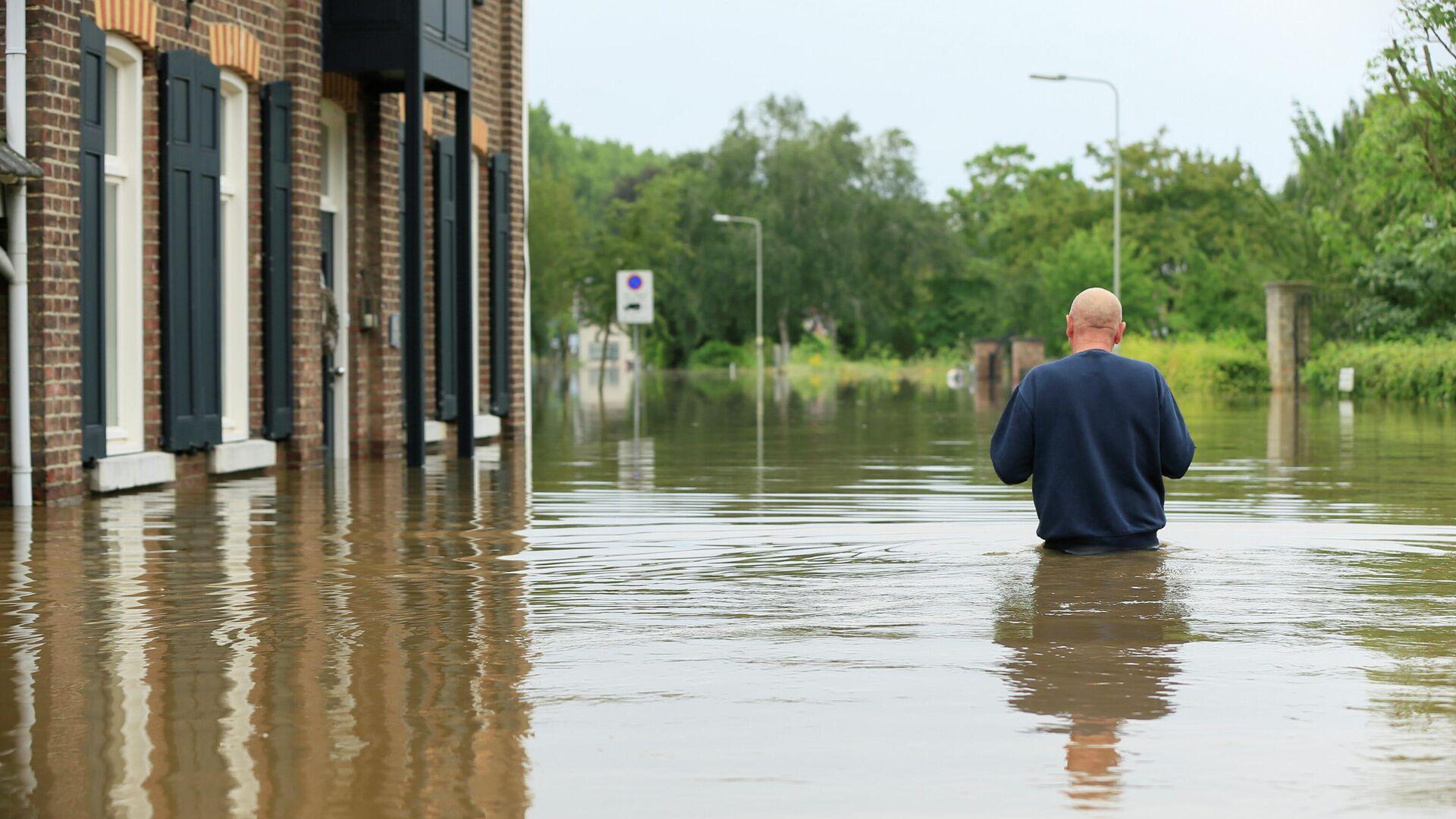 Наводнение в Гелле, Нидерланды - РИА Новости, 1920, 21.07.2021