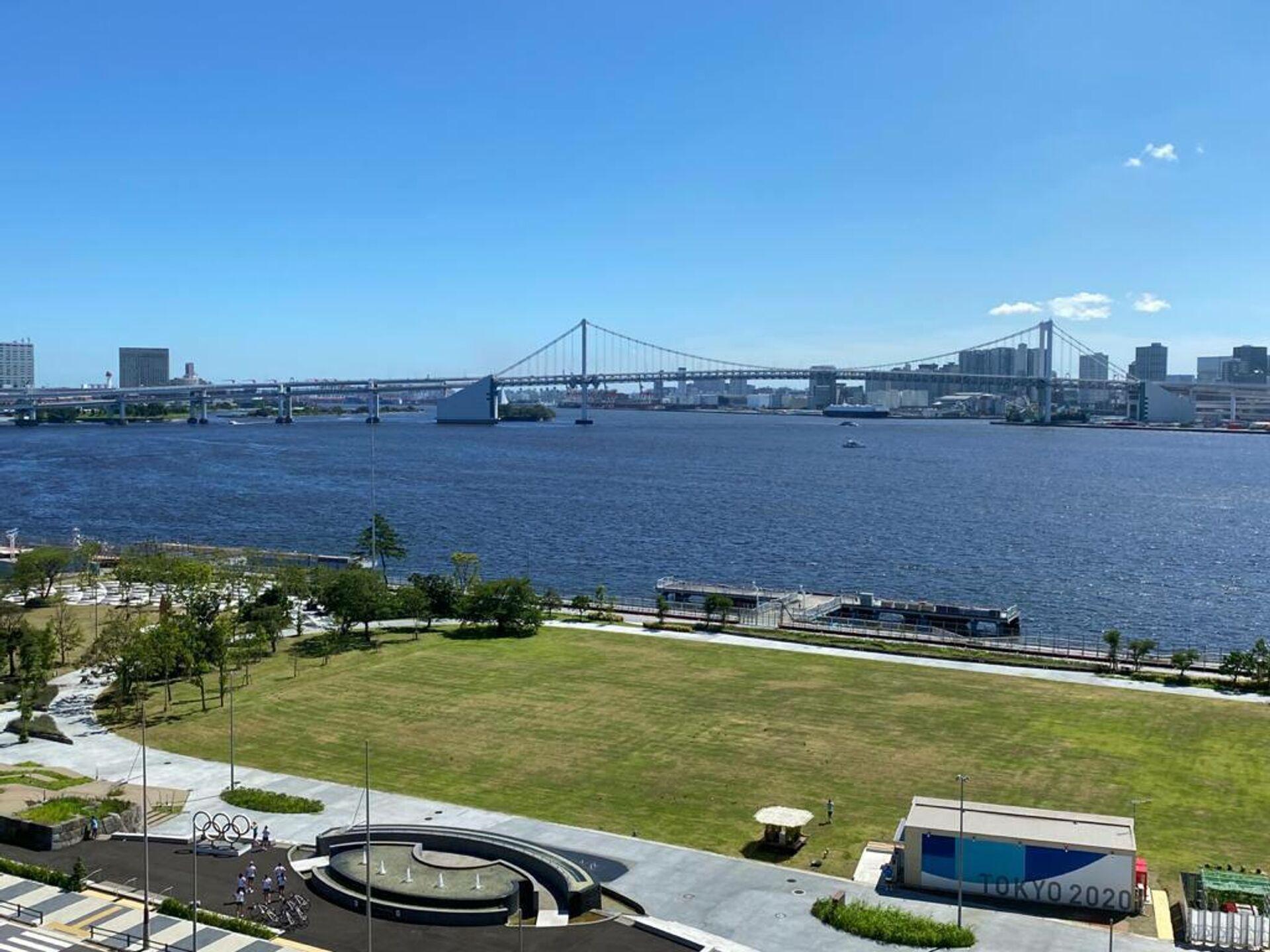 Вид с олимпийской деревни в Токио, где пройдут Олимпийские игры - РИА Новости, 1920, 19.07.2021