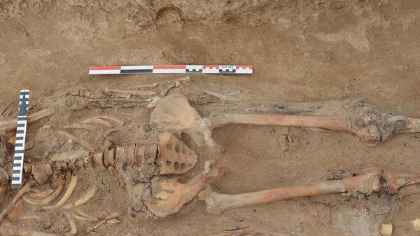 Захоронение хазарского воина, обнаруженное на востоке Ростовской области