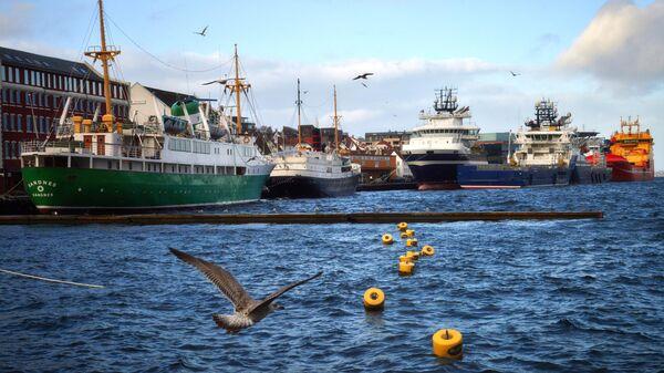 Корабли в порту Ставангера, Норвегия