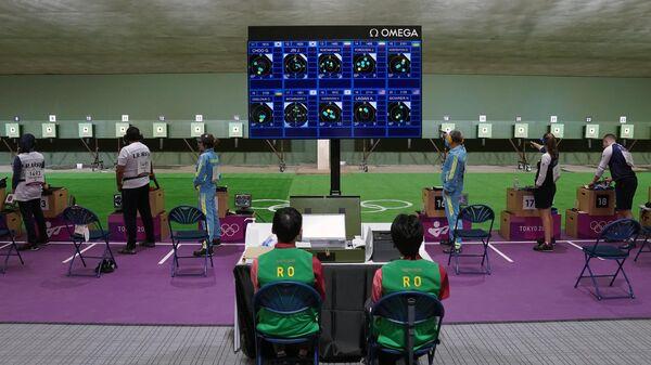 Олимпиада-2020. Стрельба. Пневматический пистолет.Смешанная команда