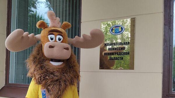 Избирательную комиссию Ленинградской области посетил Лосилий из Вепсского леса