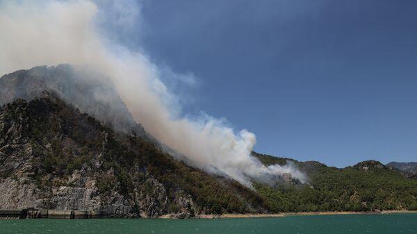 Лесной пожар в Манавгате, провинция Анталья, Турция