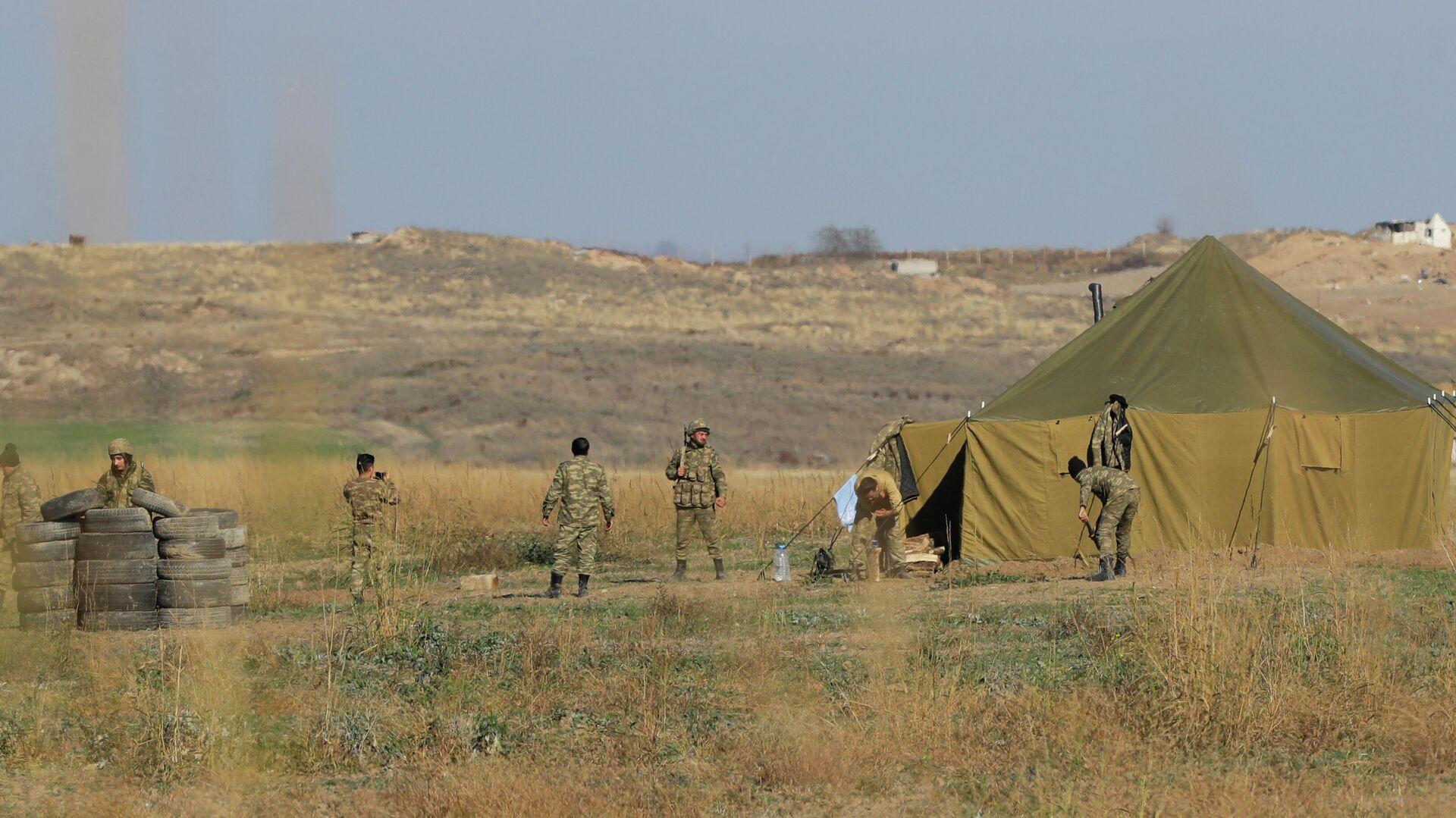 Азербайджанские военные на границе с Арменией - РИА Новости, 1920, 01.08.2021