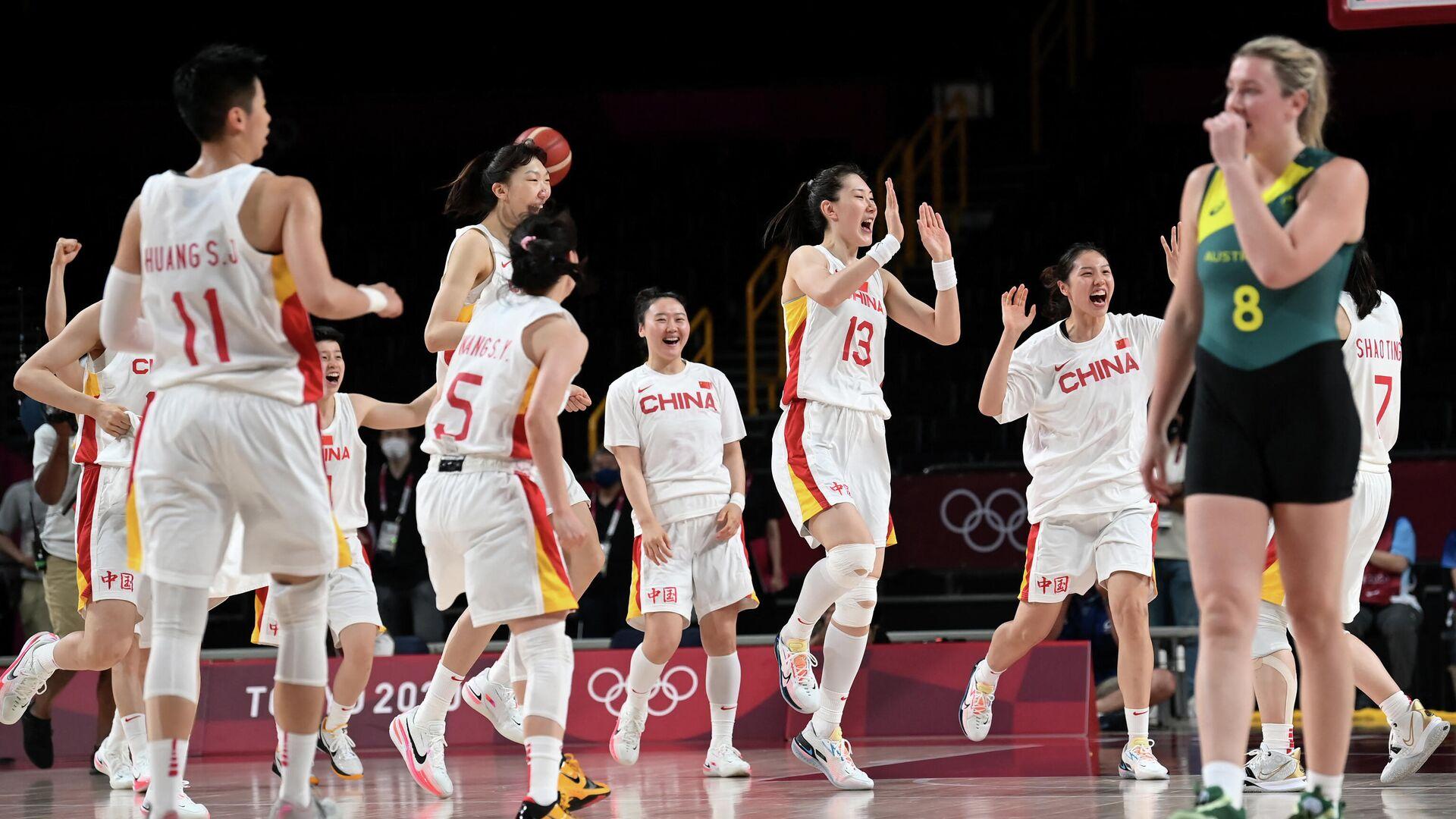 Женская сборная Китая по баскетболу на Олимпиаде в Токио - РИА Новости, 1920, 30.07.2021