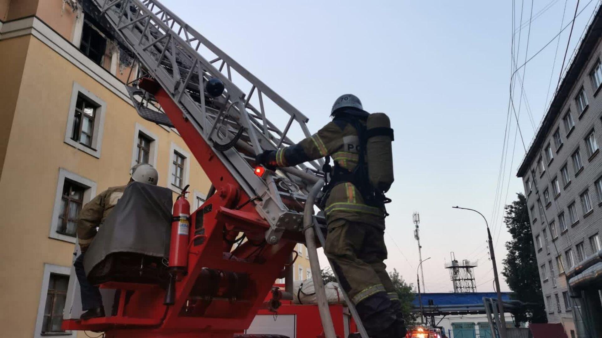 Пожаре в общежитии медуниверситета в Нижнем Новгороде - РИА Новости, 1920, 31.07.2021