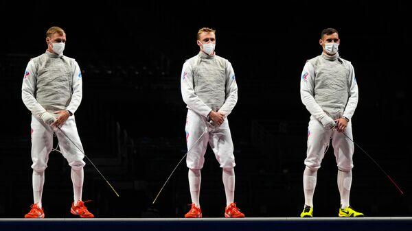 Олимпиада-2020. Фехтование. Мужчины. Рапира. Командное первенство