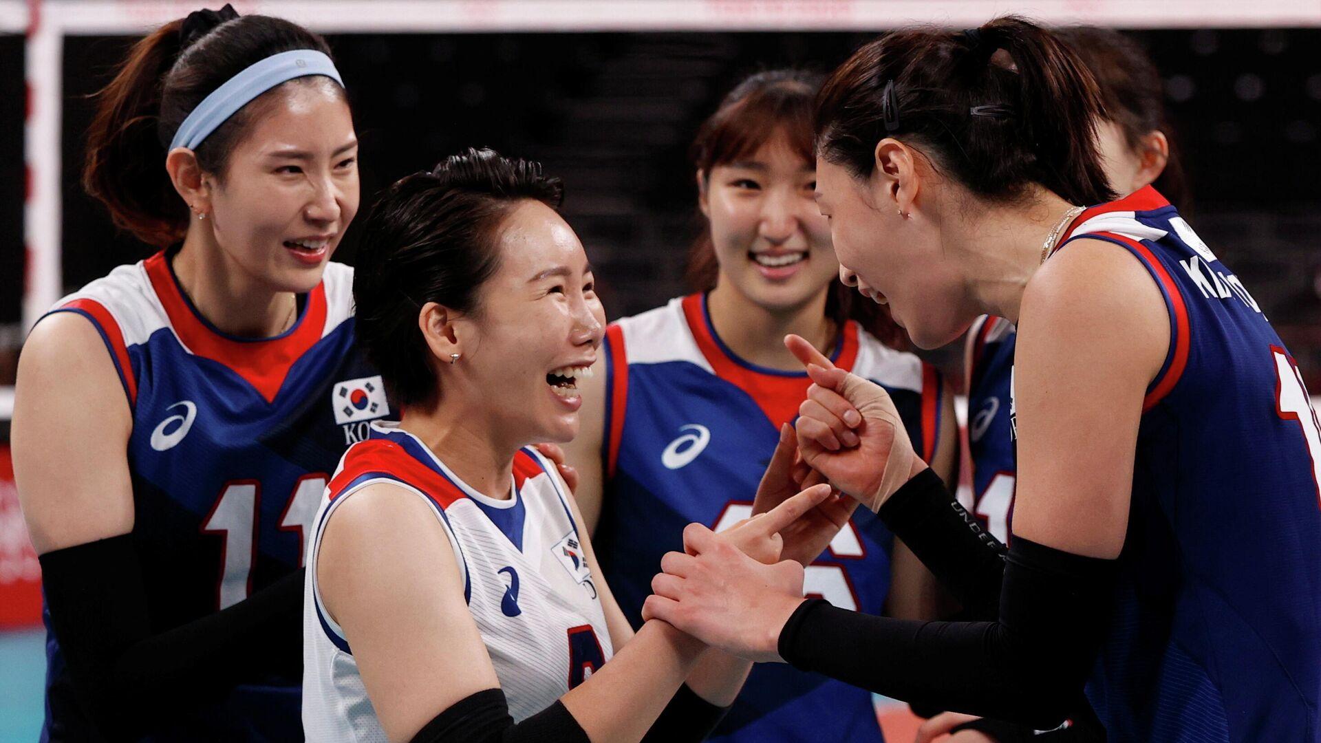 Корейские волейболистки - РИА Новости, 1920, 04.08.2021